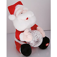 Santa with Light Up Snowball