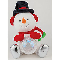 Snowman with Light Up Snowball