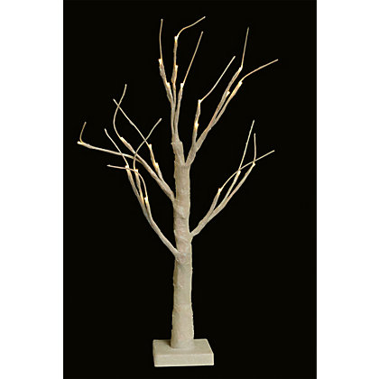 Image for Pre-Lit White Tabletop Twig Tree from StoreName