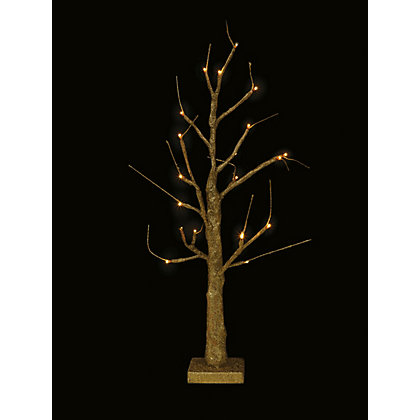 Image for Pre-Lit Gold Tabletop Twig Tree from StoreName