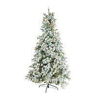 7.5ft Snowy Mistletoe Artificial Christmas Tree