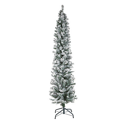 Image for 7ft Snowy Pencil Artifical Christmas Tree from StoreName