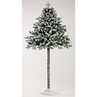 6ft 1/2 Wall Snowy Artificial Christmas Tree