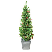 4ft Pre-Lit Christmas Porch Tree