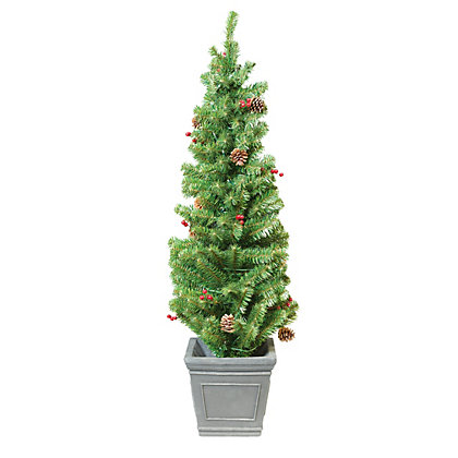 Image for 4ft Pre-Lit Christmas Porch Tree from StoreName
