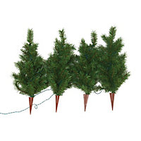 4 x 2ft Pre-Lit Christmas Tree Path Finders