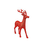 Large Red Glitter Stag
