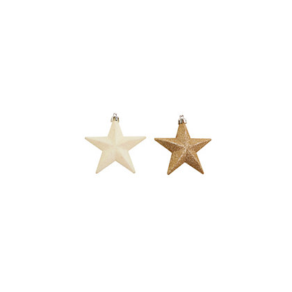 Image for Gold and White Glitter Stars 6 pack from StoreName