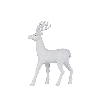 Image for Large White Glitter Stag from StoreName