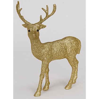 Image for Small Gold Glitter Stag from StoreName