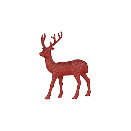 Image for Small Red Glitter Stag from StoreName