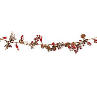 Wild Berry and Pinecone Garland