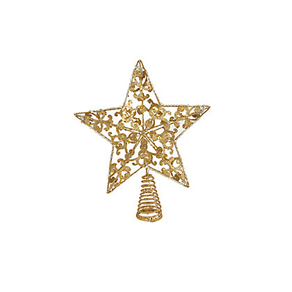 Image for Holly and Ivy Gold Pre Lit Tree Topper from StoreName
