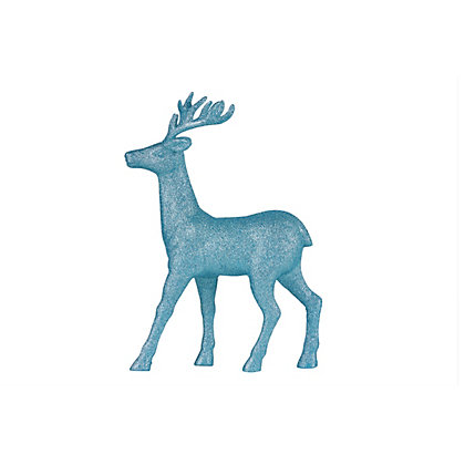Image for Large Blue Glitter Stag from StoreName