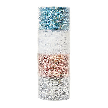 Image for Four Colour Tinsel Tie - Silver, Pink, White & Blue from StoreName