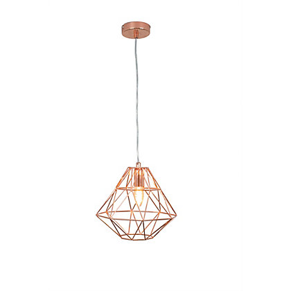 Image for Modern Cage Rose Gold Pendant Light from StoreName