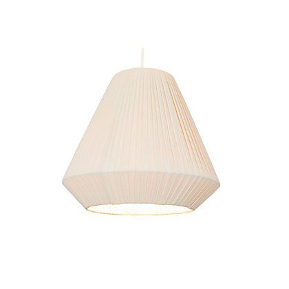 Image for Pleated Cone Cream Lamp Shade from StoreName