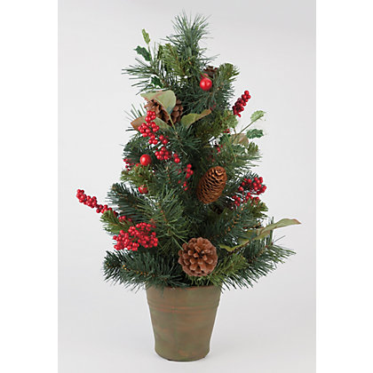 Image for Miniature Christmas Tree with Berries & Pinecones from StoreName