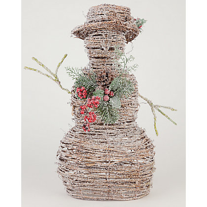 Image for Large Rattan Snowman from StoreName