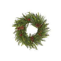 Real Look Berry and Pinecone Christmas Wreath
