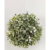 Glitter Mistletoe Kissing Ball