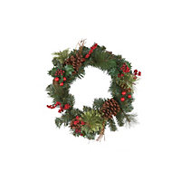 Berries and Pinecone Christmas Wreath