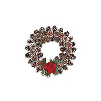 Snow Tip Pinecone Christmas Wreath