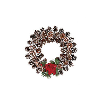 Image for Snow Tip Pinecone Christmas Wreath from StoreName