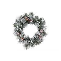 Snowy Pine Tree Christmas Wreath