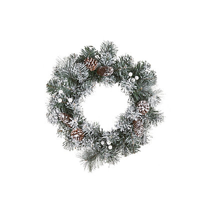 Image for Snowy Pine Tree Christmas Wreath from StoreName