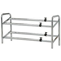 Home of Style 2 Tier Metal Shoe Rack