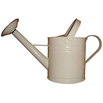 Image for Galvanised Watering Can - Cream - 3.5L from StoreName
