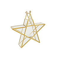 Grandeur Glass Star Tabletop Tealight Holder