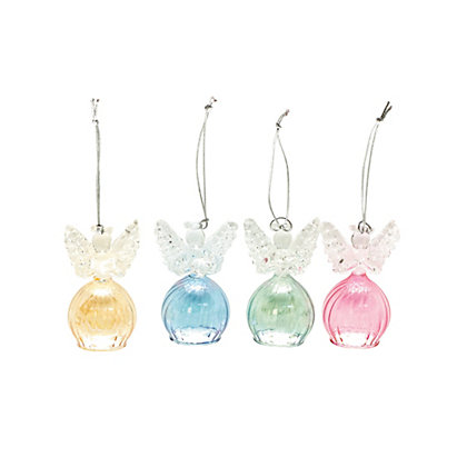 Image for Glass Angel Tree Decorations 4 pack from StoreName