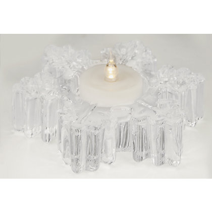 Image for Glass Snowflake Shaped Tealight Holder from StoreName