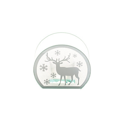 Image for Small Mirror Tealight Holder with Reindeer from StoreName