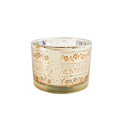 Image for Glass Candle with Silkscreen Design from StoreName