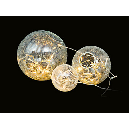 Image for 3 Glass Ball Lights from StoreName