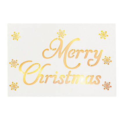 Image for Pre-Lit Merry Christmas Wooden Sign from StoreName