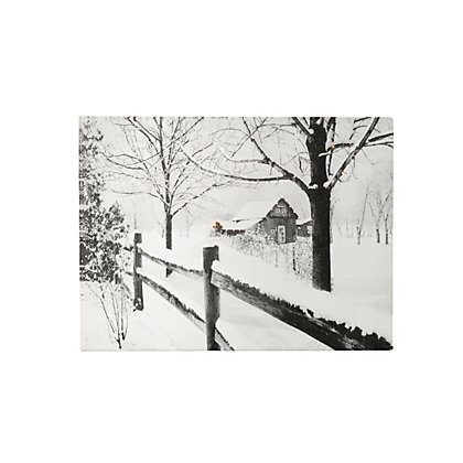 Image for Light Up Winter Scene Canvas from StoreName