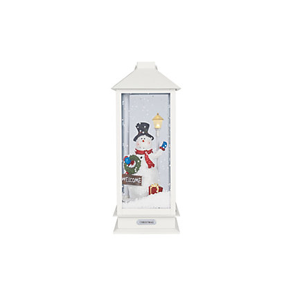 Image for Pre-Lit Singing Snowman Lantern from StoreName