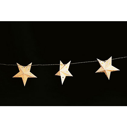 Image for 10 Paper Star String Lights from StoreName