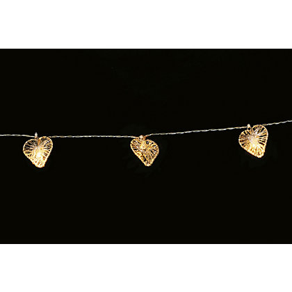 Image for Metal Wire Heart String Lights from StoreName