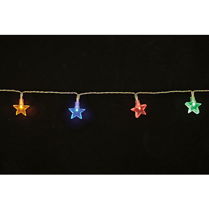 Image for 20 Multicoloured Star String Lights from StoreName