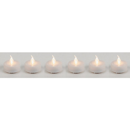 Image for 6 Warm White Tealights from StoreName