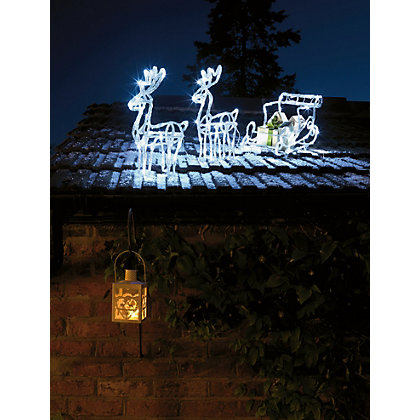 Image for Light Up Reindeer and Sleigh Set from StoreName