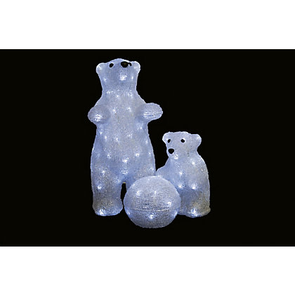 Image for Light Up Polar Bear Family with Snowball from StoreName