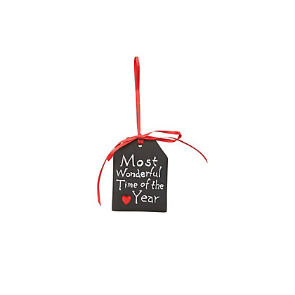 Image for Black Porcelain Merry Christmas Tag from StoreName