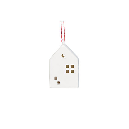 Image for Lightup Porcelain Hanging House Ornament from StoreName