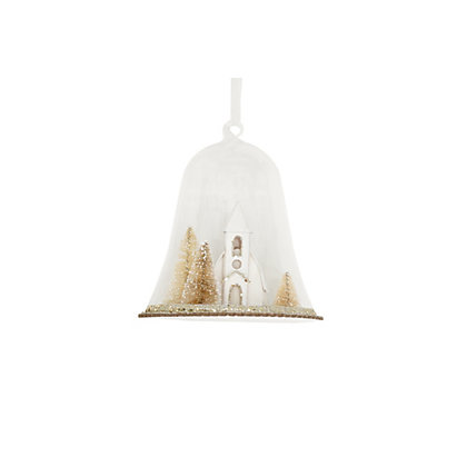 Image for Winter Church Glass Dome Ornament from StoreName